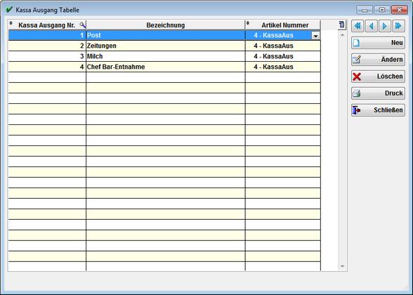 kassa eingang formular